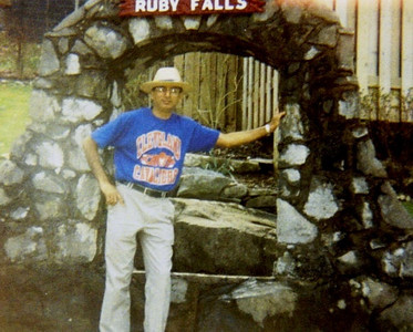 D.C. Patel at Ruby Falls in Chattanooga, Tenn., in 1993.