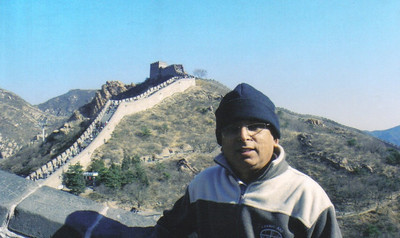 D.C. Patel at the Great Wall of China in 2006.