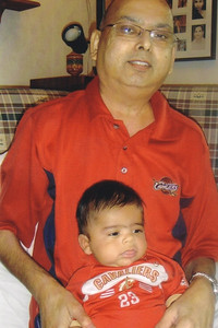 D.C. Patel began indoctrinating his grandson, Eli Patel Fruchbom, as a Cleveland Cavaliers fan as an infant.