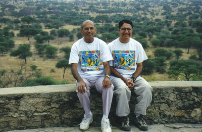 Dr. D.C. Patel, left, and his cousin Dr. Paresh Patel, both of whom were on staff at EMH Regional Healthcare Center, went on safari in Tanzania.