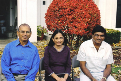 The Patel siblings at DC's home in Elyria in 2005: From left, D.C, his sister, Sushila, and brother, Chandrakant.