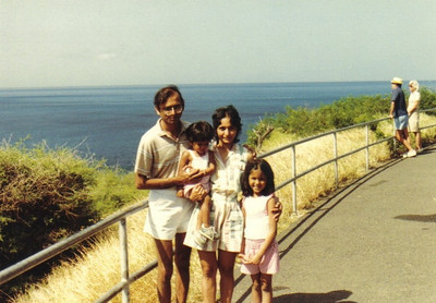 The Patels in Hawaii, 1984.