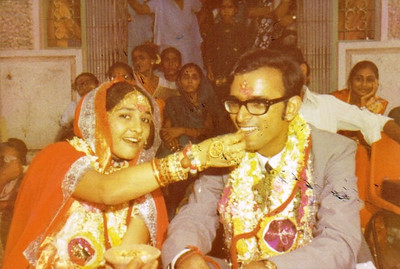 Minal and D.C. Patel were married in India on May 23, 1972.