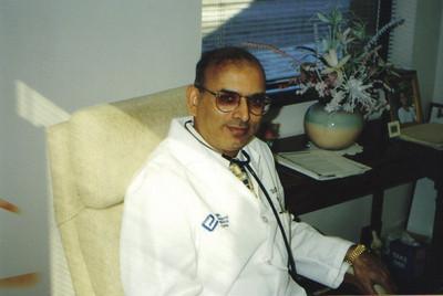 Dr. D.C. Patel at his office in Elyria.