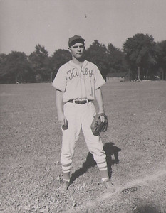 Dale Meredith played on several Lorain baseball teams in the 1940s, including Kirby Cleaners, Lawson Lumber, Lorain Glass and Lorain Telephone. He finished in Class A with Ed's Indians. (Photo courtesy of the family.)