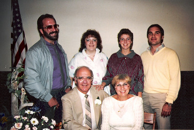 1986 photo: Dale and Lois Meredith, seated. Standing are Mark Meredith, Lynette Rogers, Nancy Svat and Rick Svat. (Photo courtesy of the family.)