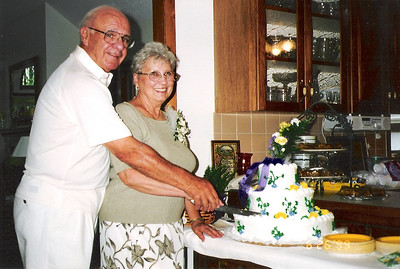 Dale and Lois Meredith at their 50th wedding anniversary party in 1999. (Photo courtesy of the family.)