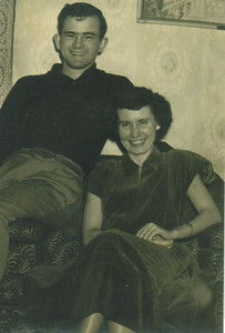 Damon Hill and Edna Dumke announced their engagement in 1950.(Photo courtesy of the family.)
