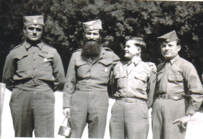 Damon Hill, second from the right, shown with some friends he made while stationed with the Army in Italy during the occupation after World War II. (Photo courtesy of the family.)