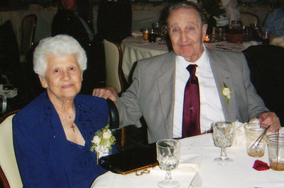 Veronica and Dan Brattoli often could be seen holding hands, even in their later years. (Photo courtesy of the family.)