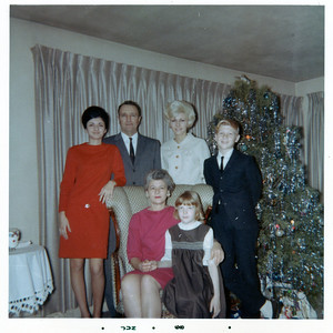 """The Brattoli family, 1968. Standing from the left, Beverly, Dan, Barb, Dan D.; Seated, Veronica, Mary. """"He didn't get to be alone much,"""" daughter Barb said of her dad. """"One of us was always tagging along."""" (Photo courtesy of the family.)"""