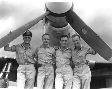 Dan Brattoli, left, is pictured with members of his squadron. (Photo courtesy of the family.)