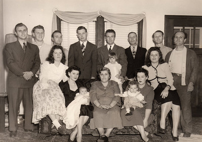 Dan Brattoli, standing fourth from the right, and most of the Brattoli clan. (Photo courtesy of the family.)