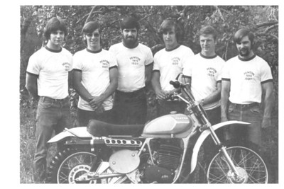 The Penton racing team that represented the United States at the International Six Days Trials in 1973, from the left: Jack Penton, Dane Leimbach, Bill Uhl, Carl Crank, Tom Penton and Jeff Penton(Photo courtesy of the family.)