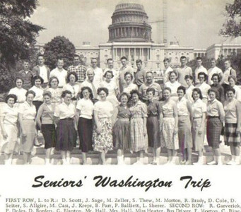 Dixie Cole, front row, 7th from the left, went with her senior class from Iberia High School to Washington, D.C.