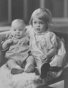 Dixie Cole and her little brother Richard around 1945.