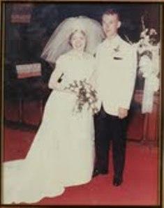 Dixie and Jim Slaughenhaupt on their wedding day, June 12, 1965.