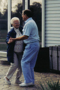 Eleanor and Steve Kaminski danced (usually the polka) whenever they had a chance. (Photo courtesy of the family.)