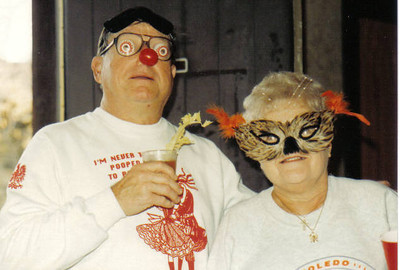 Steve and Eleanor Kaminski being silly at Olgebay Polka Festival. (Photo courtesy of the family.)