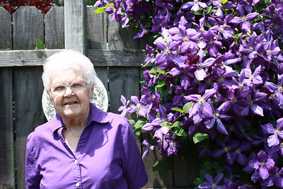 Eleanor Kaminski loved this purple clematis. (Photo courtesy of the family.)