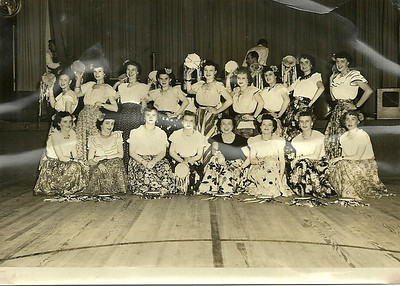 Eleanor Malinowski, front row, third from the right, with fellow Polish dancers in Lorain. To her right are her sisters Irene and Helen. (Photo courtesy of the family.)