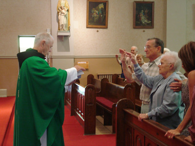 Steve and Eleanor Kaminski spent part of their 55th wedding anniversary at Holy Cross Catholic Church, the Polish parish in Elyria. (Photo courtesy of the family.)