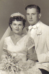 Eleanor Malinowski married Steve Kaminski on her 27th birthday - Aug. 1, 1953. (Photo courtesy of the family.)