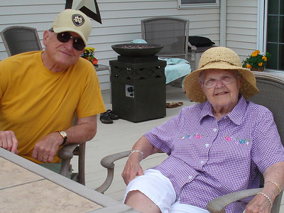 Steve and Eleanor Kaminski at a deck party in 2009. (Photo courtesy of the family.)