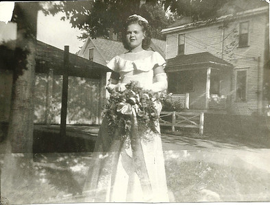 Eleanor Malinowski as a bridesmaid in the late 1940s. (Photo courtesy of the family.)