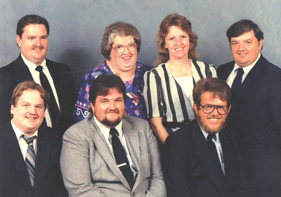 Eva Mae Pugh and her children, pictured some time after her husband, Oris, died in 1986. Seated from left: Edward, Ronald and Larry. Standing: James, Eva, Regina and Michael.