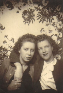 Eva Mae Fisher, right, and a friend in the mid-1940s.