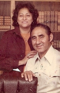 Guadalupe and Pete Flores were the parents of 13 children, grandparent of 36 and great-grandparents of 42. (Photo courtesy of the family.)