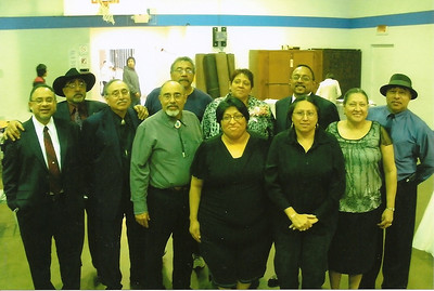 Guadalupe and Pete Flores' children: Back row from left, David, Carlos, Ramona, Jose and Jaime; front row, Martin, Pete Jr., Jorge, Maria Luisa, Antonia and Esperanza (Hope). (Photo courtesy of the family.)