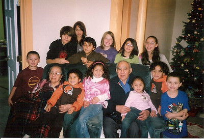 Guadalupe and Pete Flores with assorted grandchildren and great-grandchildren. (Photo courtesy of the family.)