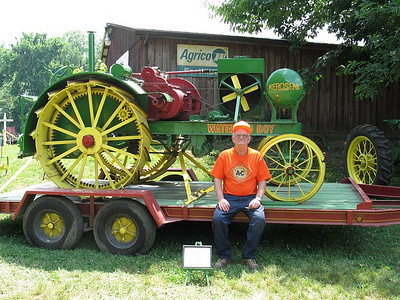 Frannie Grim exhibited his antique tractors and engines at county fairs, festivals and other events, including this tractor show in Ashtabula in 2005.