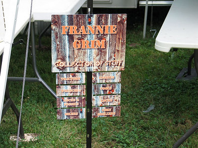 Frannie Grim's daughter and son-in-law, Lisa and David McGraw, made this sign, which Frannie posted with his collection.