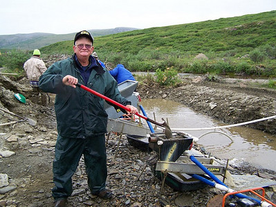 Frannie Grim went panning for gold in Alaska in 2007.