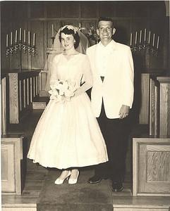 Karen Wolfe married Frannie Grim at Spencer Methodist Church on Aug. 2, 1957.