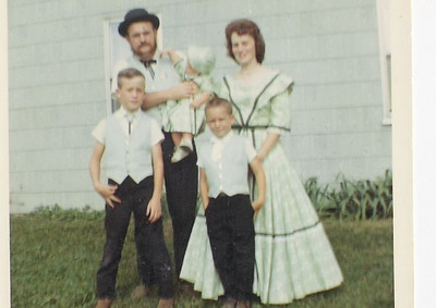 Grim family portrait, taken when they were dressed for Chatham's Sesquicentennial.