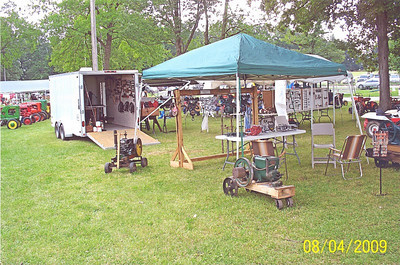 Frannie Grim's display of antique tools shown at the 2009 Medina County Fair.