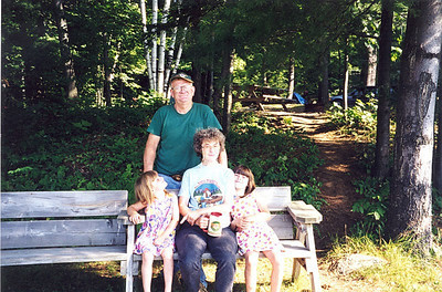 Frannie and Karen Grim with granddaughters Lauren and Arika during a rock-hunting trip to Canada.