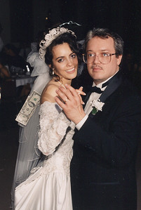 Fred Morales dances with his daughter, Julie, at her wedding in 1996. (Photo courtesy of the family.)