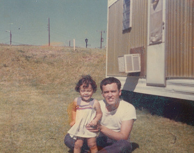 Fred Morales with daughter, Julie, in Texas around 1975. (Photo courtesy of the family.)