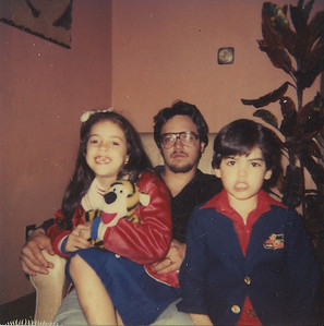 Fred Morales, his daughter, Julie, and son, Will, pictured at Easter 1979. (Photo courtesy of the family.)