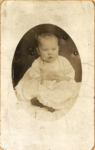 Baby Geneva Howard in 1919 before she was adopted by the Masseys. (Photo courtesy of the family.)