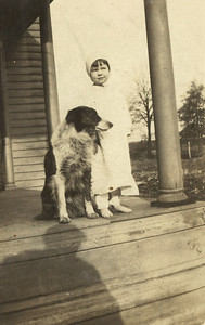 Geneva Massey and a furry friend in Indiana in the early 1920s. (Photo courtesy of the family.)