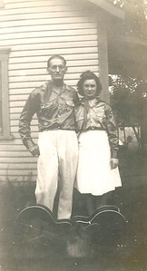 Oscar Massey and adopted daughter, Geneva, wore outfits suitable for playing country music. (Photo courtesy of the family.)