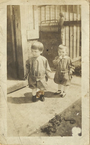 Geneva Massey, right, and a friend in the early 1920s. (Courtesy of the family.)