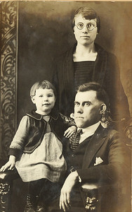 The Masseys: Little Geneva with her adoptive mother, Artha, and adoptive father, Oscar, in the early 1920s. (Photo courtesy of the family.)