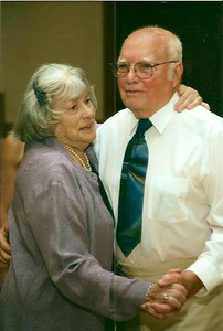 Bobbie and George Hoover on the dance floor at a granddaughter's wedding. (Photo courtesy of the family.)
